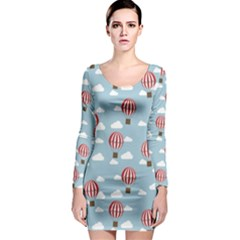 Hot Air Balloon Long Sleeve Bodycon Dresses by Kathrinlegg