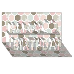 Spring Bee Happy Birthday 3d Greeting Card (8x4)  by Kathrinlegg