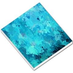 Splashes Of Color, Aqua Small Memo Pads