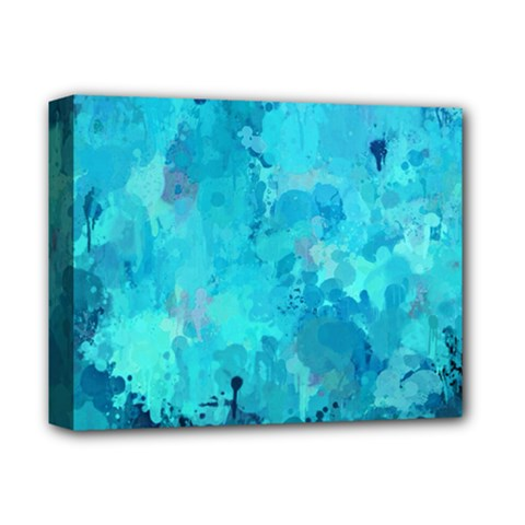 Splashes Of Color, Aqua Deluxe Canvas 14  X 11  by MoreColorsinLife