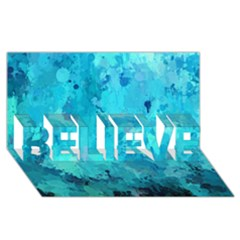 Splashes Of Color, Aqua Believe 3d Greeting Card (8x4)