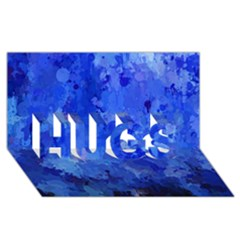 Splashes Of Color, Blue Hugs 3d Greeting Card (8x4)