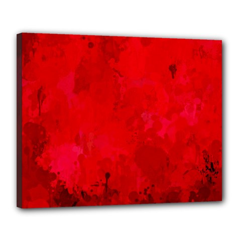 Splashes Of Color, Deep Red Canvas 20  X 16  by MoreColorsinLife