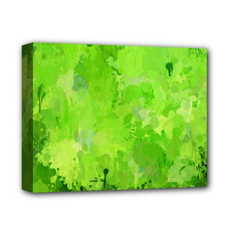 Splashes Of Color, Green Deluxe Canvas 14  X 11  by MoreColorsinLife
