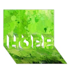 Splashes Of Color, Green Hope 3d Greeting Card (7x5)  by MoreColorsinLife