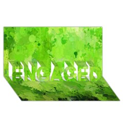 Splashes Of Color, Green Engaged 3d Greeting Card (8x4)  by MoreColorsinLife