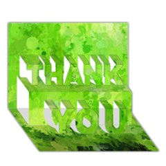 Splashes Of Color, Green Thank You 3d Greeting Card (7x5)