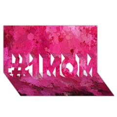 Splashes Of Color, Hot Pink #1 Mom 3d Greeting Cards (8x4)