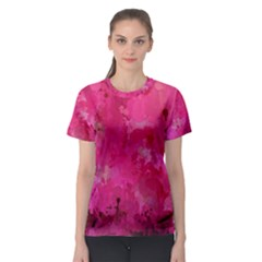 Splashes Of Color, Hot Pink Women s Sport Mesh Tees