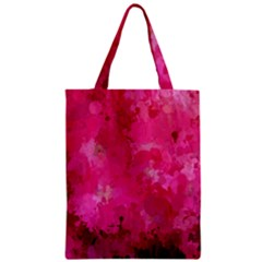 Splashes Of Color, Hot Pink Zipper Classic Tote Bags by MoreColorsinLife