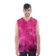 Splashes Of Color, Hot Pink Men s Basketball Tank Top by MoreColorsinLife