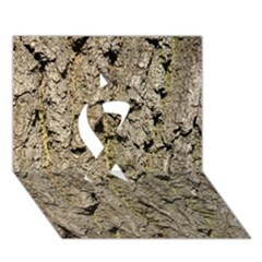 Grey Tree Bark Ribbon 3d Greeting Card (7x5)