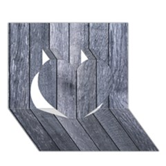 Grey Fence Heart 3d Greeting Card (7x5)