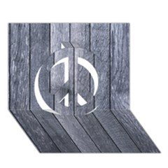 Grey Fence Peace Sign 3d Greeting Card (7x5)
