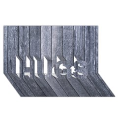 Grey Fence Hugs 3d Greeting Card (8x4)