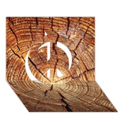 Cross Section Of An Old Tree Peace Sign 3d Greeting Card (7x5)