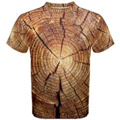 Cross Section Of An Old Tree Men s Cotton Tees