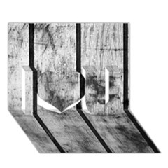 Black And White Fence I Love You 3d Greeting Card (7x5)