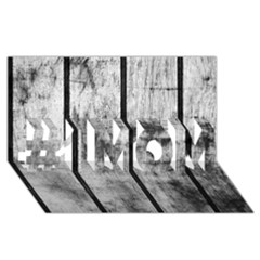 Black And White Fence #1 Mom 3d Greeting Cards (8x4)