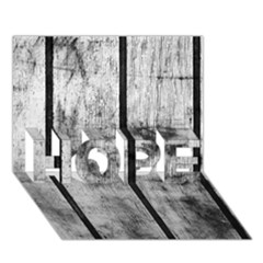 Black And White Fence Hope 3d Greeting Card (7x5)  by trendistuff