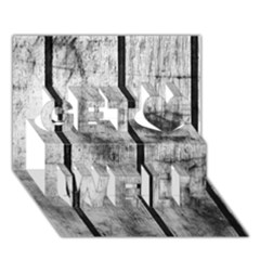 Black And White Fence Get Well 3d Greeting Card (7x5)