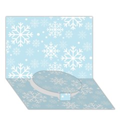 Frosty Circle Bottom 3d Greeting Card (7x5)  by Kathrinlegg