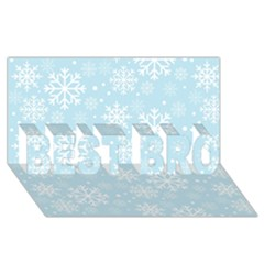 Frosty Best Bro 3d Greeting Card (8x4)  by Kathrinlegg