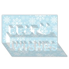 Frosty Best Wish 3d Greeting Card (8x4)  by Kathrinlegg