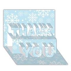 Frosty Thank You 3d Greeting Card (7x5)  by Kathrinlegg