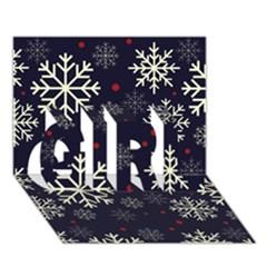 Snowflake Girl 3d Greeting Card (7x5)  by Kathrinlegg