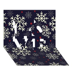 Snowflake Love 3d Greeting Card (7x5)  by Kathrinlegg