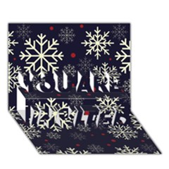 Snowflake You Are Invited 3d Greeting Card (7x5)  by Kathrinlegg