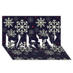 Snowflake Party 3d Greeting Card (8x4)
