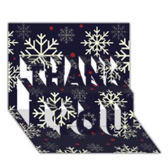 Snowflake Thank You 3d Greeting Card (7x5)  by Kathrinlegg