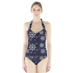 Women s Halter One Piece Swimsuit by Kathrinlegg
