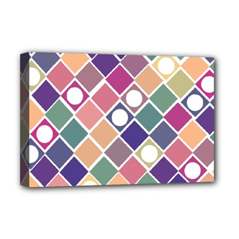 Dots And Squares Deluxe Canvas 18  X 12   by Kathrinlegg