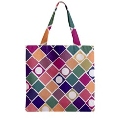 Dots And Squares Grocery Tote Bags by Kathrinlegg