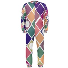 Dots And Squares Onepiece Jumpsuit (men)  by Kathrinlegg