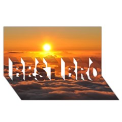 Sunset Over Clouds Best Bro 3d Greeting Card (8x4)  by trendistuff