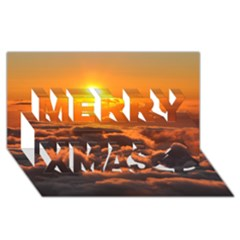 Sunset Over Clouds Merry Xmas 3d Greeting Card (8x4)  by trendistuff