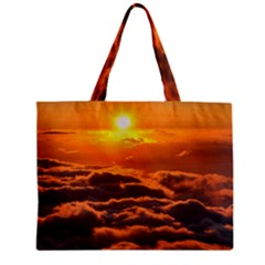 Sunset Over Clouds Zipper Tiny Tote Bags by trendistuff
