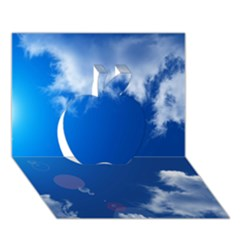 Sun Sky And Clouds Apple 3d Greeting Card (7x5)  by trendistuff