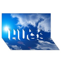 Sun Sky And Clouds Hugs 3d Greeting Card (8x4)