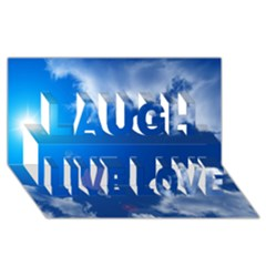 Sun Sky And Clouds Laugh Live Love 3d Greeting Card (8x4)
