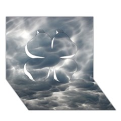 Storm Clouds 2 Clover 3d Greeting Card (7x5)  by trendistuff