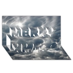 Storm Clouds 2 Merry Xmas 3d Greeting Card (8x4)