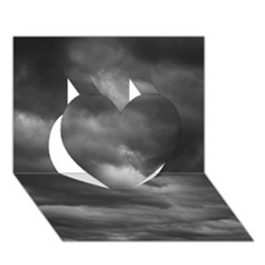 Storm Clouds 1 Heart 3d Greeting Card (7x5)