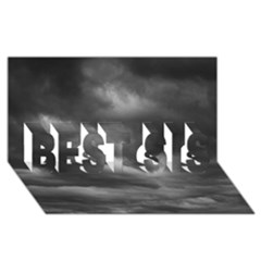 Storm Clouds 1 Best Sis 3d Greeting Card (8x4)