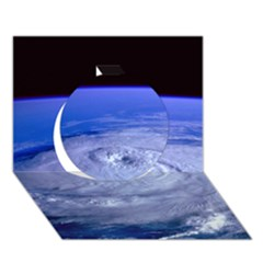 Hurricane Elena Circle 3d Greeting Card (7x5)  by trendistuff