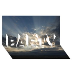 Heaven Rays Party 3d Greeting Card (8x4)